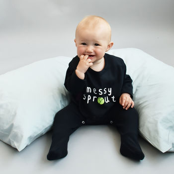 Personalised Sprout Baby Grow Romper Sleepsuit