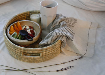 Handwoven Natural Ugwafu Basket Tray In Three Sizes