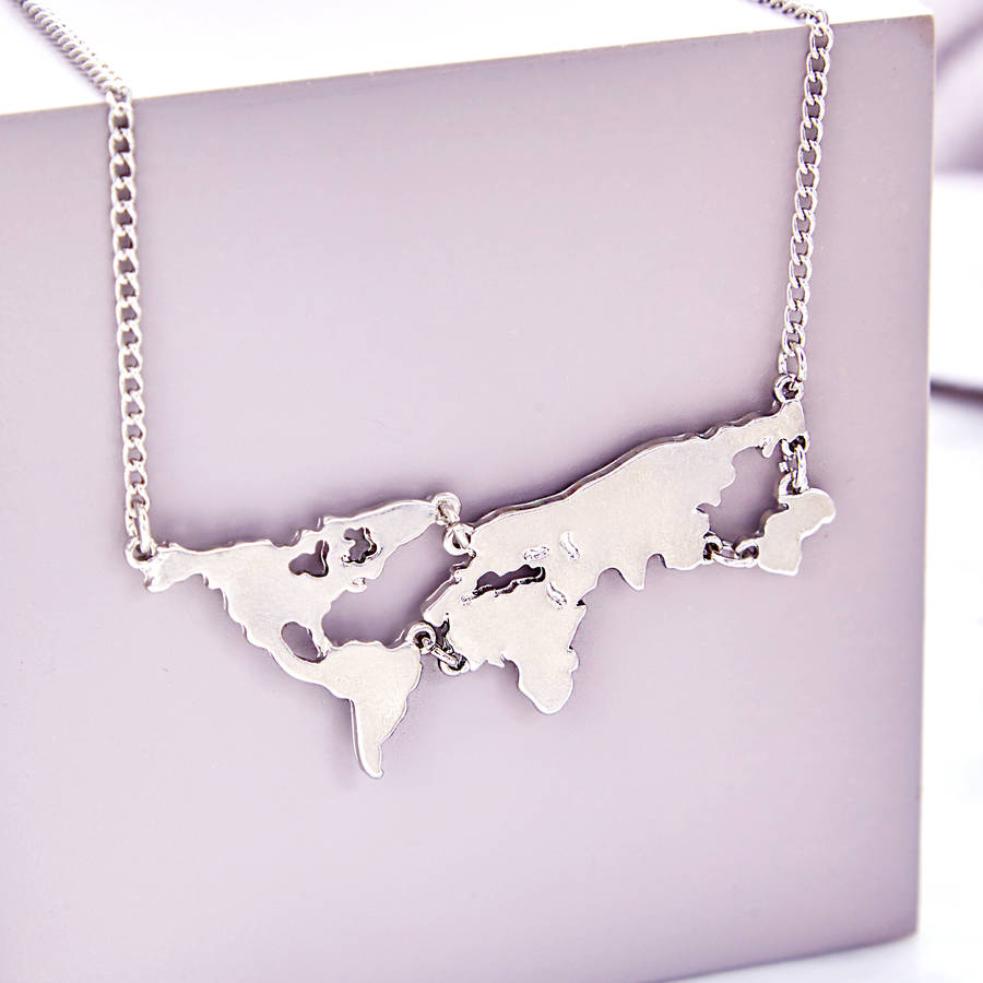 World Map Necklace world maps magnetic