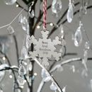 Personalised Hanging Silver Snowflake Bauble