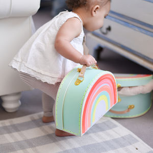 Set Of Rainbow Suit Cases - gifts for children