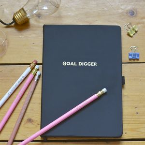 Goal Digger Notebook And Pencil Set - stationery-lover