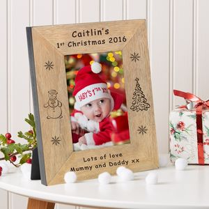 Baby's 1st Christmas Photo Frame - home accessories