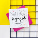 Personalised Spotty Engagement Card