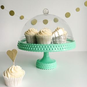 Melamine Cake Stand And Dome - dining room