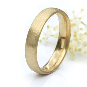4mm Court Wedding Ring In 18ct Gold - gold rings