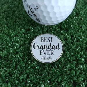 Personalised 'Best Grandad Ever' Golf Ball Marker