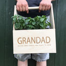 Personalised Indoor Trug Planter Box