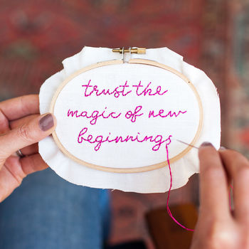 Magic Of New Beginnings Embroidery Kit