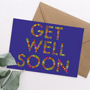 Get Well Soon Floral Letter Card