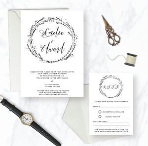 Rosemary Wedding Invitation Range - save the date cards