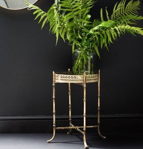 Gold Bamboo Side Table - side tables
