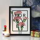 Personalised Wedding Anniversary Botanical Flower Print