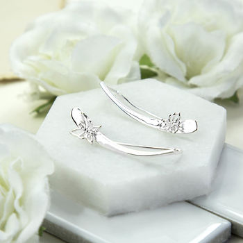 Sterling Silver Butterfly Ear Climber