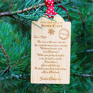 Baby's First Christmas Letter Wooden Tag Decoration - sale festive favourites