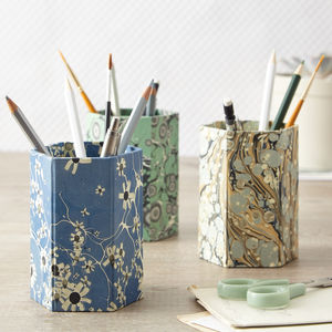 Marbled Print Pen Pot - whats new