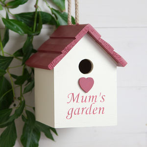 Mum's Garden Heart Birdhouse - birds & wildlife
