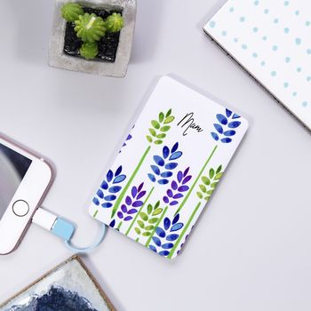 Personalised Slim Battery Power Bank For Mum