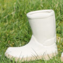 Dad And Me White Ceramic Welly Boot Planters