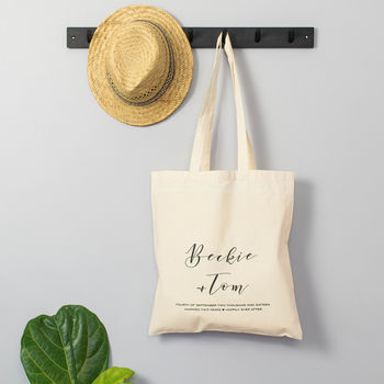 Personalised Second Anniversary Tote Bag