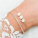 Jessica Crystal And Mini Disc Bracelet Set