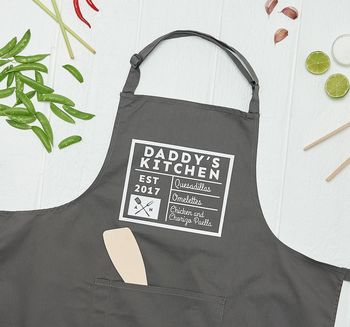 Personalised Daddy's Kitchen Apron