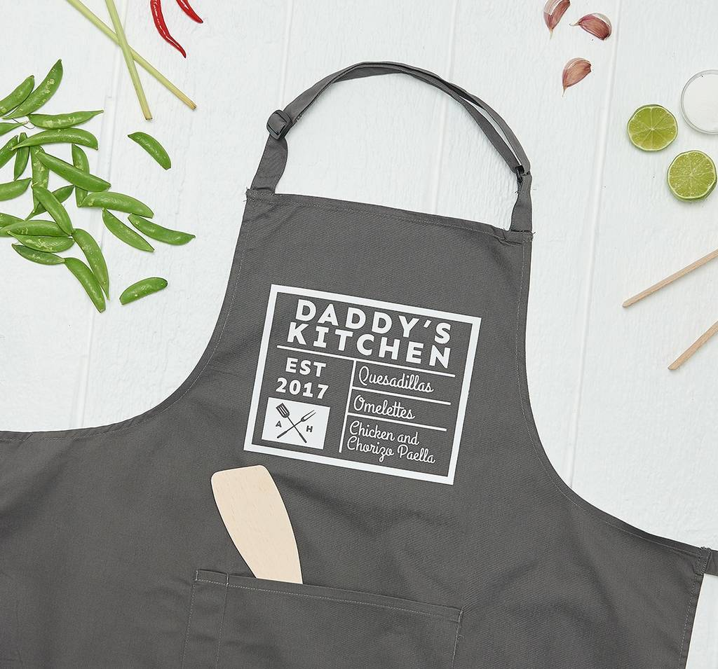 personalised daddy\'s kitchen apron by owl & otter ...