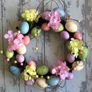 Egg And Flower Easter Wreath
