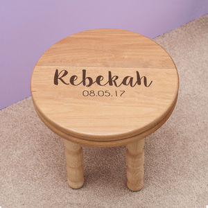 Personalised Girl's Wooden Stool - children's room
