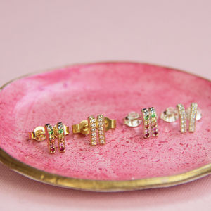 En Pointe Stud Earrings - earrings