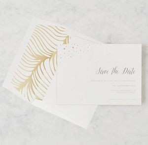 'Flock Of Gold' Letterpress Save The Date - save the date cards