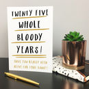 Personalised Any Age Funny Birthday Card