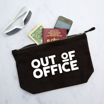 Out Of Office Travel Pouch / Wash Bag