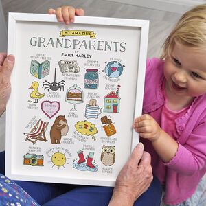 My Amazing Grandparents Personalised Print