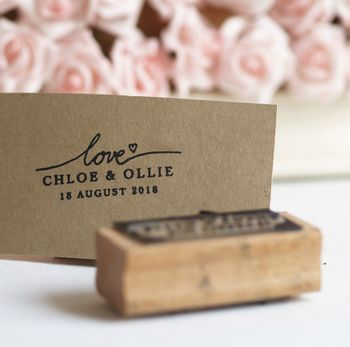 Wedding Favours Personalised Love Rubber Stamp