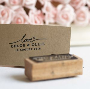 Wedding Favours Personalised With Love Rubber Stamp - wedding favours