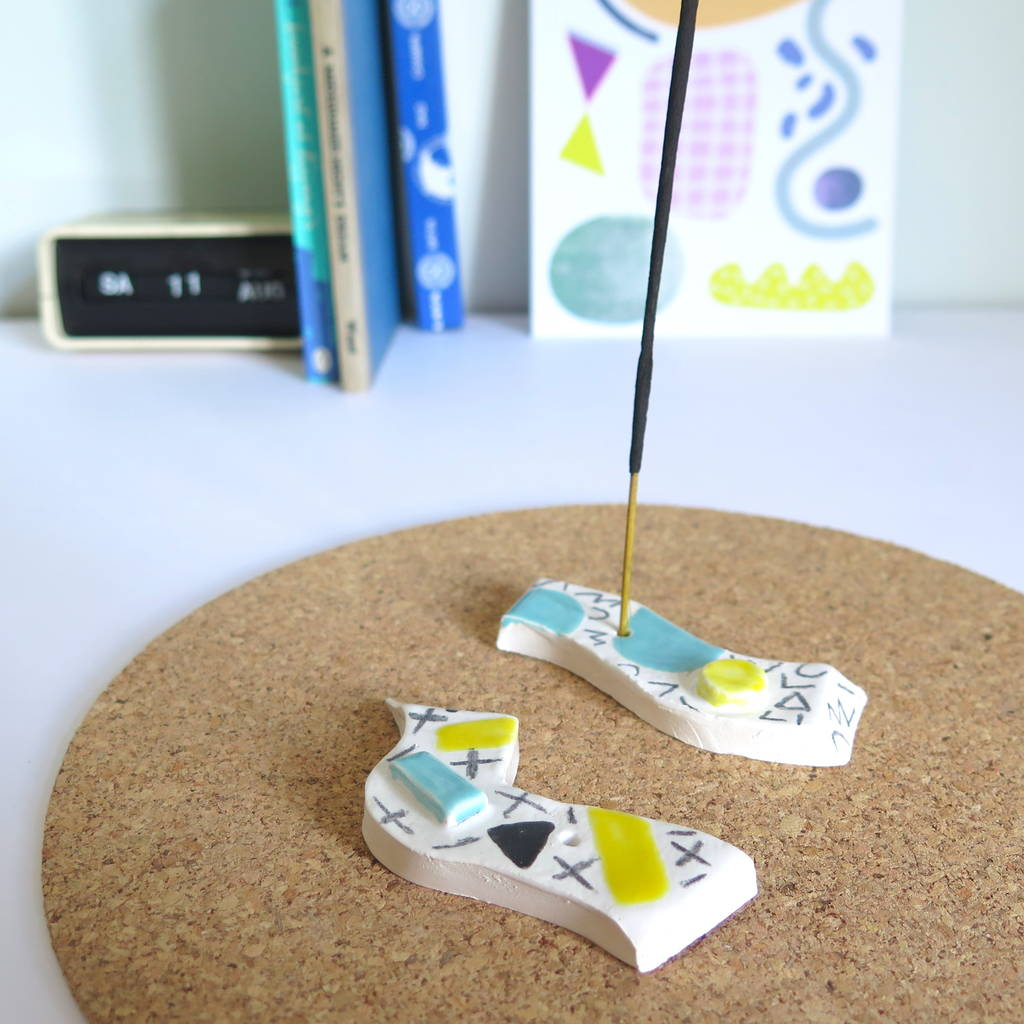 Abstract Pattern Ceramic Incense Holder