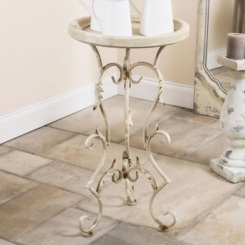 Pettigrew Classical Antique Scroll Side Table