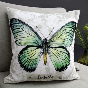Personalisable Swallowtail Butterfly Cushion - patterned cushions