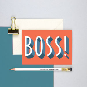 Boss Greetings Card