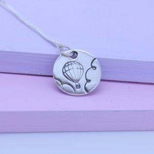 Hot Air Balloon Sterling Silver Necklace