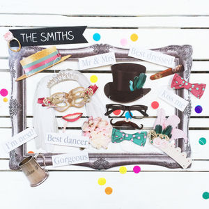 Wedding Photo Booth Props - wedding day activities