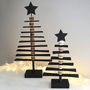 Black Decorative Star Topped Tree