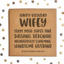 Happy Birthday Wifey Square Card