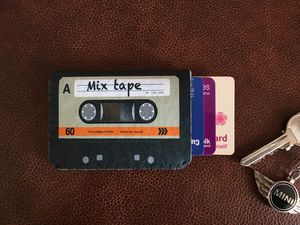 Colour Mix Tape Cassette Card Holder
