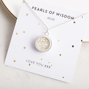 Pearls Of Wisdom Necklace - mother's day gifts