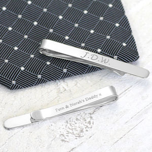Silver Tie Clip - retirement gifts