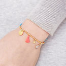 Personalised Gold Charm Friendship Bracelet