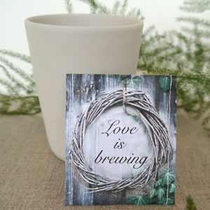 Woodland Wreath Wedding Tea Favour - edible favours