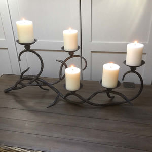 Large Dark Metal Ornate Curly Candelabra - new in wedding styling